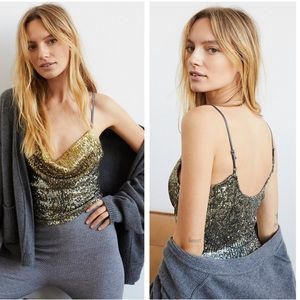 NWT Free People Stop & Stare Sequined Camisole